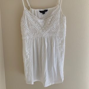 American Eagle Babydoll Camisole Top Lace Cream